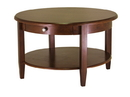 Winsome 94231 Wood Concord Round Coffee Table with Drawer and Shelf