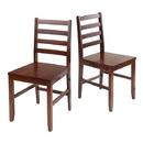 Winsome 94236 Hamilton 2-pc set Ladder Back Chairs, Antique Walnut Finish