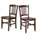 Winsome 94245 Madison 2-Pc Set Slat Back Chairs