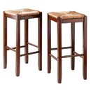 Winsome 94280 Kaden 2-PC Set Bar Stools Rush Seat