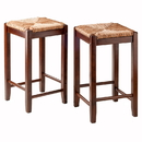 Winsome 94284 Kaden 2-PC Set Counter Stools Rush Seat