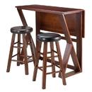 Winsome 94302 Harrington 3pc Drop Leaf High Table, 2-24