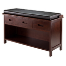 Winsome 94306 Adriana 2-Pc Storage Bench with Cushion Seat