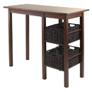 Winsome 94307 Egan 3pc Breakfast Table with 2 Baskets Set