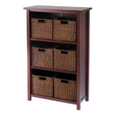 Winsome 94310 Milan 7pc Cabinet/Shelf with Baskets; 6 Small