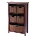 Winsome 94313 Milan 6pc Cabinet/Shelf and Baskets; Shelf, One Basket, 4 Small Baskets; 3 cartons
