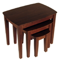 Winsome 94327 Wood 3pc Nesting Table