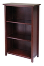 Winsome 94328 Wood Milan Storage Shelf or Bookcase 4-Tier- Medium