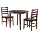 Winsome 94335 Clayton 3-PC Set Drop Leaf Table with 2 Ladderback Chairs