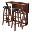 Winsome 94336 Harrington 3pc Drop Leaf High Table, 2-29