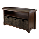 Winsome 94338 Granville Storage Bench with 3 Foldable Baskets