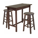 Winsome 94342 Sally 3-Pc Breakfast Table Set with 2 Square Leg Stools