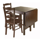 Winsome 94343 Lynden 3pc Dining Table with 2 Ladder Back Chairs