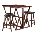 Winsome 94345 Harrington 3pc Drop Leaf High Table, 2 - 24