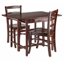 Winsome 94353 Taylor 3-Pc Set Drop Leaf Table w/ Ladder Back Chair