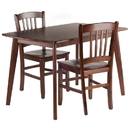 Winsome 94358 Shaye 3-PC Set Dining Table w/ Slat Back Chairs