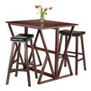Winsome 94361 Harrington 3-Pc Drop Leaf High Table, 2 -29