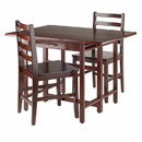 Winsome 94368 Taylor 3-Pc Set Drop Leaf Table w/ Ladder Back Chair