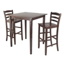Winsome 94369 3pc Kingsgate High/Pub Dining Table with Ladder Back High Chair