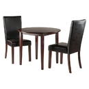 Winsome 94373 Clayton 3-PC Set Drop Leaf Table with 2 Chairs