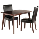 Winsome 94375 Shaye 3-PC Set Dining Table w/ Chairs