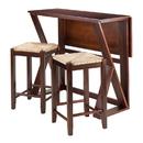 Winsome 94376 Harrington 3pc Drop Leaf High Table, 2-24