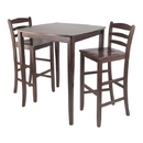 Winsome 94379 3pc Inglewood High/Pub Dining Table with Ladder Back Stool
