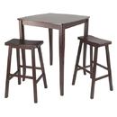 Winsome 94380 3pc Inglewood High/Pub Dining Table with Saddle Stool