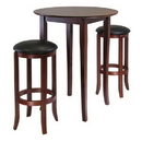 Winsome 94381 Fiona Round 3pc High/Pub Table Set