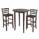 Winsome 94389 Fiona 3pc High Round Table with Ladder Back Stool