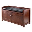 Winsome 94392 Charleston 2-Pc Storage Hall Bench Set