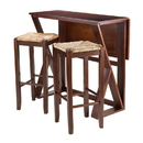 Winsome 94393 Harrington 3pc Drop Leaf High Table, 2-29