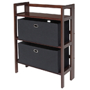 Winsome 94395 Torino 3-PC Set Folding Bookcase w/ Fabric Basket