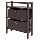 Winsome 94397 Torino 3-PC Set Folding Bookcase w/ Fabric Basket