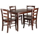 Winsome 94508 Inglewood 5-PC Set Dining Table w/ 4 Ladderback Chairs