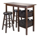 Winsome 94527 Egan 5pc Table with 2 - 24
