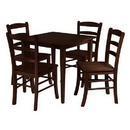 Winsome 94532 Groveland 5pc Square Dining Table with 4 chairs