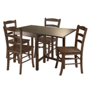 Winsome 94545 Lynden 5pc Dining Table with 4 Ladder Back Chairs