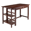 Winsome 94550 Velda Writing Desk w/2 Shelves & 1 Drawer, Antique Walnut Finish