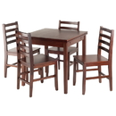 Winsome 94556 Pulman 5-PC Set Extension Table with Ladder Back Chairs