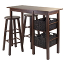 Winsome 94560 Egan 5pc Breakfast Table with 2 Baskets and 2 Stools