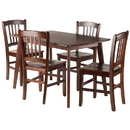 Winsome 94582 Shaye 5-PC Set Dining Table w/ Slat Back Chairs