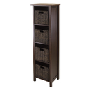 Winsome 94811 Granville 5pc Storage Shelf, 4-section with 4 Foldable Baskets