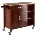 Winsome 94843 Mabel Kitchen Cart Walnut/Natural