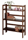 Winsome 94896 Wood 3-Tier Folding and Stackable Shelf, Wide