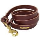 "Ray Allen Manufacturing 5160B-BUR 60"" BROWN LEATHER LEAD (7/8"") w/ BRAIDED HANDLE"