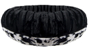 Bessie and Barnie BB-BAGEL-7 Bagel Bed - Black Puma and Spotted Pony or Customize your Own