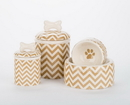 Creature Comforts CHEV Chevron Bowls and Treat Jars Collection