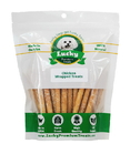 Lucky Premium Treats CW1 Small Dog Size - Chicken Wrapped Rawhide Dog Treats