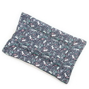 Mutts and Mittens FLCNC Navy Cats in Garden Cotton Fabric Flat Pet Bed